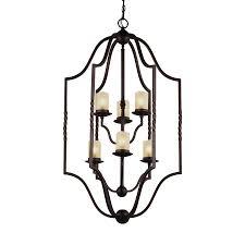 sea gull lighting trempealeau 25 5 in 6 light roman bronze rustic seeded glass cage