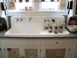farmhouse sink with drainboard and legs white farm kitchen top best cast iron ideas on pertaining