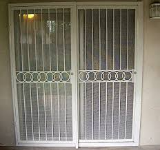 pictures of sliding glass door security bar