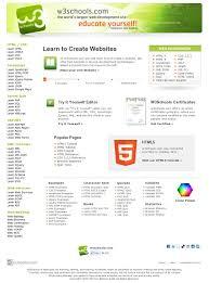 W3schools Design Pin By Lynn Riggs On Web Inspirations Learn Web Design