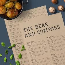 Rustic Menu Design Ideas The Bear Compass A Rustic Menu Design With A Modern