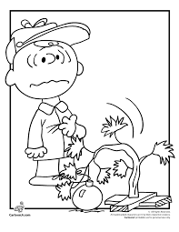 charlie brown christmas tre a charlie brown christmas coloring pages woo! jr kids activities on charlie brown winter coloring pages