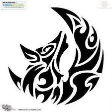 tribal wolf and moon drawing. Plain And For Jonathan Wolf And Moon Tribal Tattoo With Tribal Wolf And Moon Drawing B