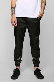 urban outfitters feathers lightweight faux leather jogger pant
