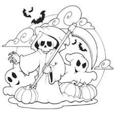 Small Picture Scary Halloween Coloring Pages Scary Halloween Witch Coloring