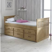 single bed. Fine Bed Captains Single Bed Frame With Trundle And Storage In C
