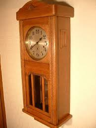 arts crafts style westminster chime wallclock