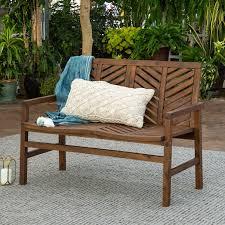 dark brown 48 inch patio wood loveseat