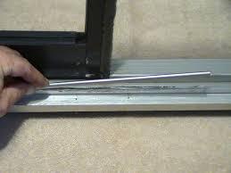 sliding glass door track cap sliding door designs