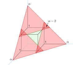 intersecting planes cube. cube section 2 intersecting planes l