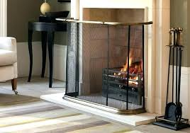 extra large fireplace screen glass screens wrought iron