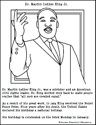 martin luther king jr coloring page – kjnoons.com