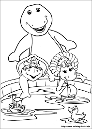 Small Picture Barney and Friends coloring picture Crafts Pinterest Barney