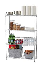 kitchen wire shelving. Adjustable 4 Tier Shining Chrome Kitchen Wire Shelving Home Food \u0026 Drink Pantry Storage Rack