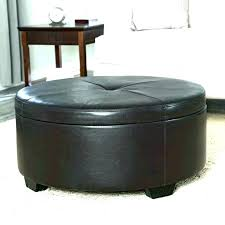 round black leather ottoman black leather