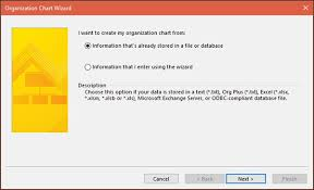 Organization Chart Wizard Excel Microsoft Visio Using The Org Chart Wizard Tutorialspoint