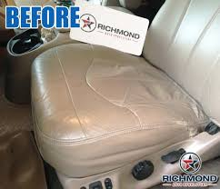 2000 2003 ford f 150 lariat leather seat cover driver bottom tan