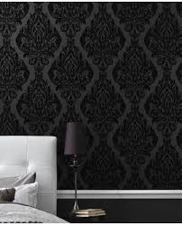 black wallpaper decorating black wallpaper decor black wallpaper room 53b68839e52bb340523ba87f1f0ff593 wallpaper feature walls grey wallpaper