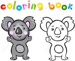funny cartoon koala coloring book vector ilration for child stock vector 44303847