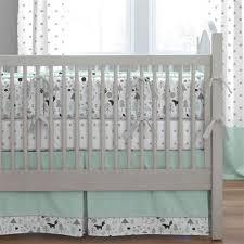 mint green and grey crib bedding. mint and gray baby woodland crib skirt box pleat green grey bedding e
