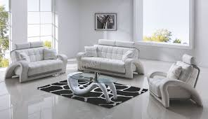 Awesome White Leather Living Room Furniture Images - Bedroom and living room furniture