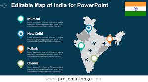free editable maps india editable powerpoint map presentationgo com