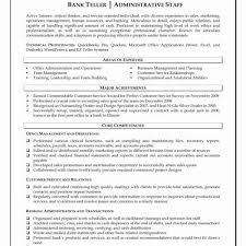 Lead Teller Resume Best 48 Special Lead Teller Operations Specialist Resume Sierra