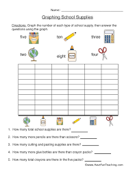 Back To School Graph Worksheet Have Fun Teaching