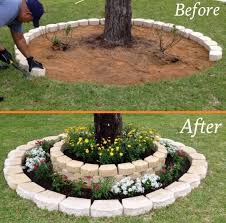 DIY Tree Ring Planter landscaping landscape designing ideas ATTENTION: Have  You Always Wanted to Redesign Your Home's Landscape But Don't Know Where to  ...