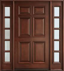 gany solid wood front entry door single with 2 sidelites