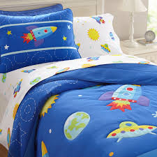 galaxy outer space blue bedding twin or fullqueen comforter set for boys cotton shabby chic