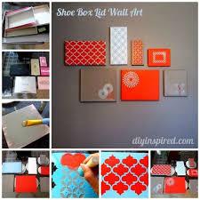 shoe box diy shoe box lids diy wall art