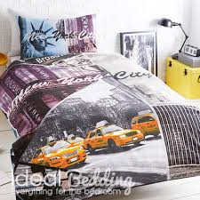 home new york city scene complete duvet quilt bedding cover and pillowcase bedding set previous next