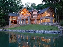 image of best lake cabin plans with walkout basement backyard ideas