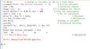 can someone explain why i get this error in matlab com expert answer