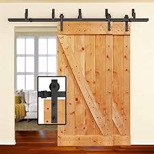6 6ft heavy duty byp double door sliding barn door hardware powder