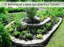 a herb spiral in your garden
