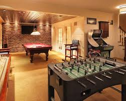 basement game room ideas. Delighful Ideas Basement Game Room Ideas For Well Home Design  Pictures Modest And Pinterest