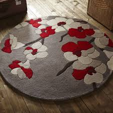infinite round rugs blossom red tap to expand