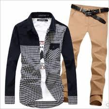 Pant And Shirt Khaki Pant Shirt For Men Manufacturer Supplier Exporter