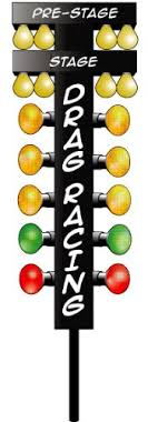Drag Racing Christmas Tree 4 ft Decal Free Shipping in the United States