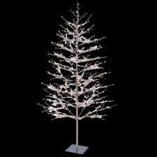 GE 5 Ft Brown Winter Berry Branch Tree With C4 Color Choice LED White Berry Christmas Tree Lights