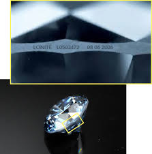 laser inscription text on a cremation diamond from ashes