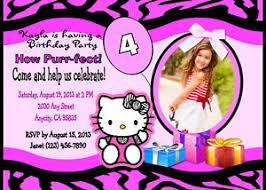 Hello Kitty Custom Printable Birthday Party Invitation Free Thank