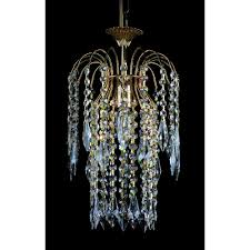 shower 20 cm crystal waterfall chandelier st01900 20 01