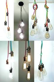 light hanging light bulb fixture 3 pendant ceiling modern industrial bare track