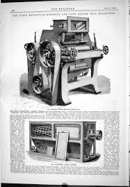 dickey machine works antique print 1889 robinson roller flour mill machinery germ dickey