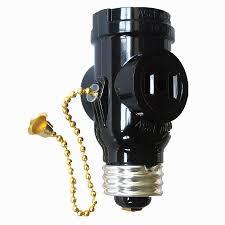 project source 660 watt black medium light socket adapter with pull chain