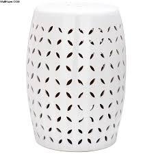 safavieh 18 5 in white ceramic barrel garden stool at outdoor ceramic stool