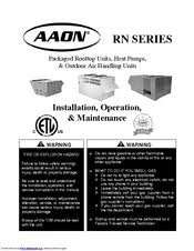 aaon rn series manuals aaon rn series installation operation maintanance manual